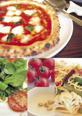 イタリア料理のイメージ・コラージュの写真素材 [FYI02683341]