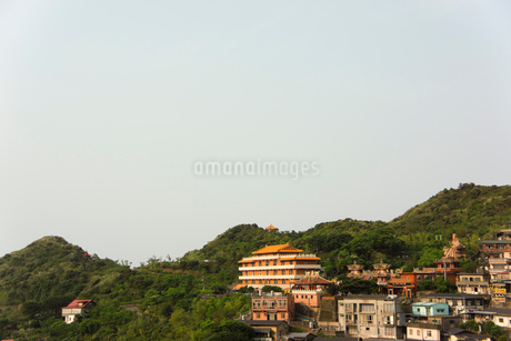 黄金博物館から望む金瓜石の街並み 台湾の写真素材 [FYI02684041]