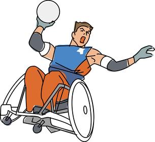 障害者スポーツ ウィルチェアーラグビーのイラスト素材 [FYI02684404]