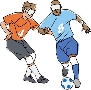障害者スポーツ 視覚障害者5人制サッカーのイラスト素材 [FYI02684929]