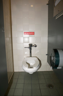 Toilet with reserved signの写真素材 [FYI02685228]