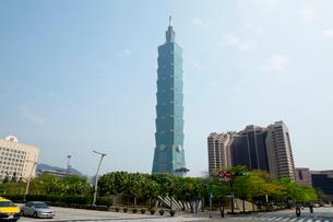 台北101とグランドハイアット台北 台湾の写真素材 [FYI02685386]
