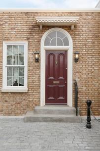 おしゃれなイギリスイメージの住宅の写真素材 [FYI02685531]