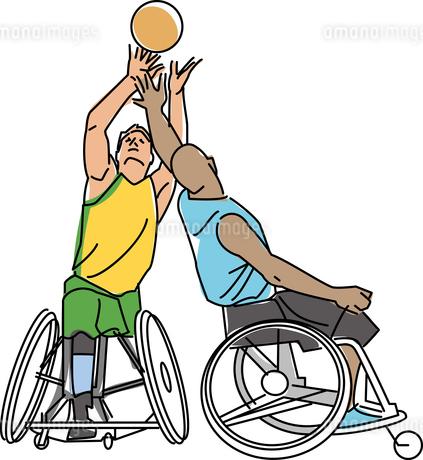 障害者スポーツ 車椅子バスケットボールのイラスト素材 [FYI02685615]