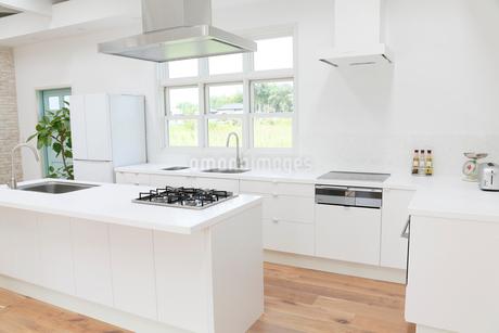 明るくて広いキッチンの写真素材 [FYI02685689]