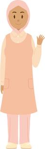 東南アジア系の女性看護師のイラスト素材 [FYI02685718]