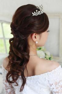 花嫁のヘアースタイルの写真素材 [FYI02685878]