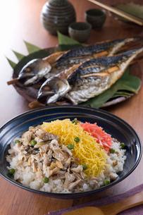 浜焼き鯖バラちらし寿司の写真素材 [FYI02686285]