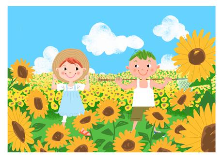 夏休みの子供のイラスト素材 [FYI02686426]