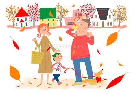 秋の日のお買い物のイラスト素材 [FYI02686442]