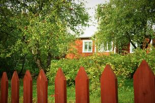 ポルヴォー旧市街の家 フィンランドの写真素材 [FYI02686906]