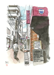 仙台城下町百景 文化横丁のイラスト素材 [FYI02687319]