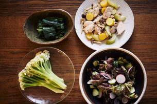 無農薬野菜料理の写真素材 [FYI02687384]
