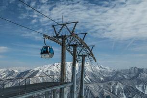 苗場スキー場のゴンドラの写真素材 [FYI02688114]