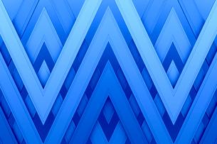 重なるV字の模様 CGのイラスト素材 [FYI02688263]