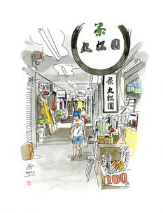 仙台城下町百景 壱弐参(いろは)横丁のイラスト素材 [FYI02688953]