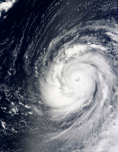 Super Typhoon Choi-wan west of the Mariana Islands, Pacificの写真素材 [FYI02689634]