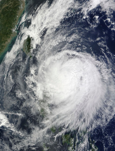 Typhoon Lupit off the Philippines.の写真素材 [FYI02689692]