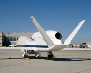 Global Hawk unmanned aircraft.の写真素材 [FYI02689724]