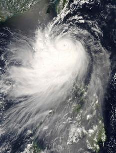 Typhoon Nuri over the Philippine Islands.の写真素材 [FYI02689752]