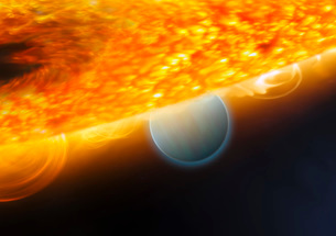 An artist's impression of a Jupiter-size extrasolar planet bの写真素材 [FYI02689769]
