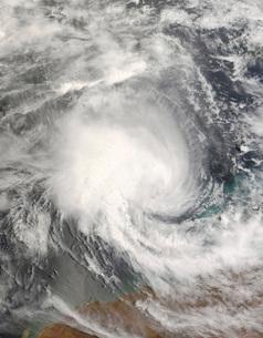 Tropical Cyclone Nicholas approaching Australiaの写真素材 [FYI02689829]