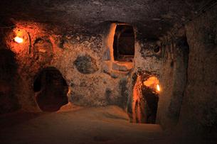 カッパドキヤ カイマクルの地下都市の写真素材 [FYI02689861]