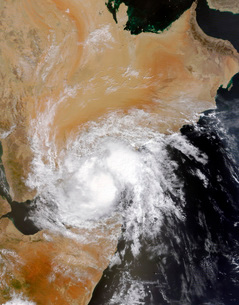 Tropical Storm Three in the northern Indian Ocean.の写真素材 [FYI02690012]