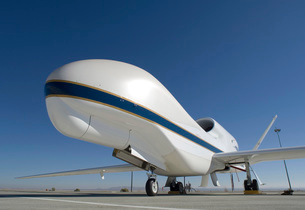 Global Hawk unmanned aircraft.の写真素材 [FYI02690251]