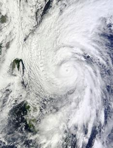 Typhoon Chaba in the Philippine Sea.の写真素材 [FYI02690359]