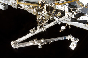 The Canadian-built space station remote manipulator system (の写真素材 [FYI02690393]