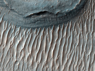 Ius Chasma, a large canyon on Mars in the western region ofの写真素材 [FYI02690454]
