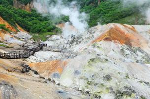 登別温泉の地獄谷の写真素材 [FYI02690811]