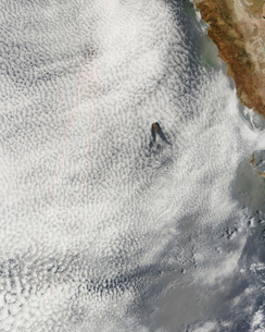 Cloud vortices and glory off Guadalupe Island, Mexico.の写真素材 [FYI02690948]