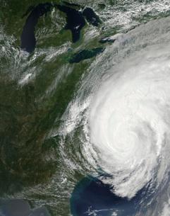 Hurricane Irene over the eastern United States.の写真素材 [FYI02691005]