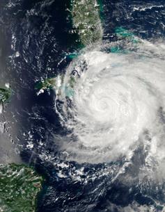 Hurricane Ike over Cuba, Jamaica, and the Bahamas.の写真素材 [FYI02691113]