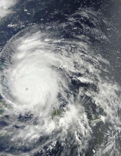 Hurricane Irene over the Bahamas.の写真素材 [FYI02691159]