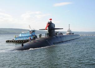 Ballistic missile submarine USS Nebraska.の写真素材 [FYI02691253]