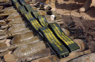 Scattered artillery assigned to Explosive Ordnance Disposalの写真素材 [FYI02691320]