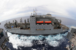 Dry cargo and ammunition ship USNS Sacagawea.の写真素材 [FYI02691537]