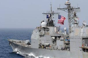 Ticonderoga-class guided-missile cruiser USS Chancellorsvillの写真素材 [FYI02691541]