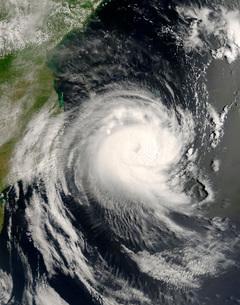 Tropical Cyclone Favio approaching Mozambique.の写真素材 [FYI02691652]
