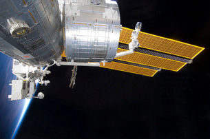 The Japanese Kibo complex of the International Space Stationの写真素材 [FYI02691727]