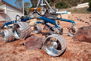 Scarecrow, a mobility-testing model for Mars Science Laboratの写真素材 [FYI02691771]