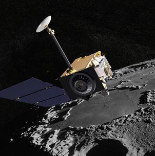 Artist Concept of the Lunar Reconnaissance Orbiter.の写真素材 [FYI02691777]