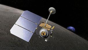 Artist's concept of the Lunar Reconnaissance Orbiter.の写真素材 [FYI02691814]