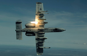 An A-10 Warthog breaks over the Pacific Alaska Range Complexの写真素材 [FYI02691834]