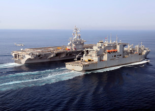 The Military Sealift Command dry cargo and ammunition shipsの写真素材 [FYI02691859]