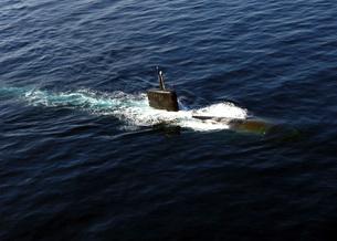 Los Angeles-class attack submarine USS Miami.の写真素材 [FYI02692304]