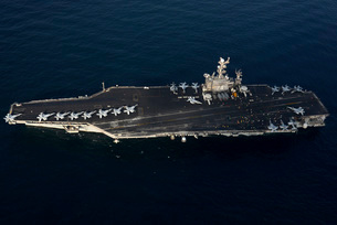 The aircraft carrier USS John C. Stennis.の写真素材 [FYI02693348]